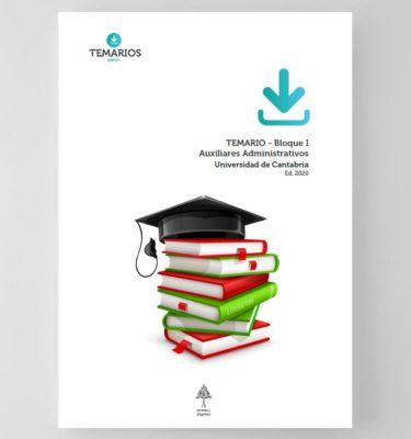 Temario - Auxiliares Administrativos Universidad de Cantabria 2020