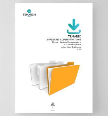 Temario Auxiliares Administrativos - Universidad de Alicante Bloque 1