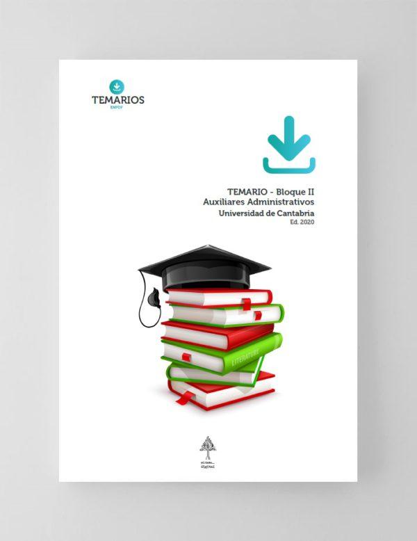 Temario Auxiliares Administrativos - Universidad de Cantabria 2020 - Bloque 2