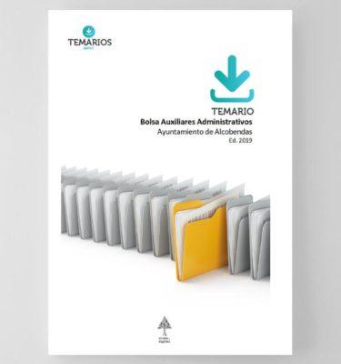 Temario Bolsa Temario Auxiliares Administrativos Ayuntamiento Alcobendas 2019