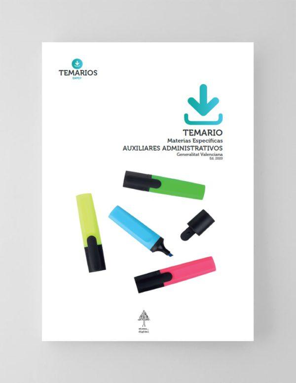 Temario Materias Específicas Auxiliares Administrativos Generalitat Valenciana 2020
