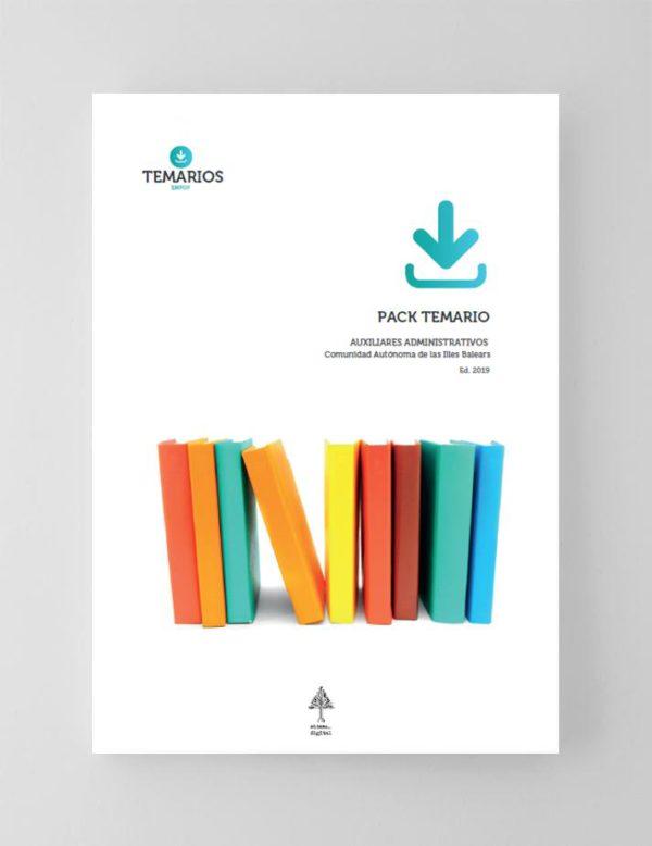 Pack Temario Auxiliares Administrativos Comunidad Autónoma de las Islas Baleares 2019