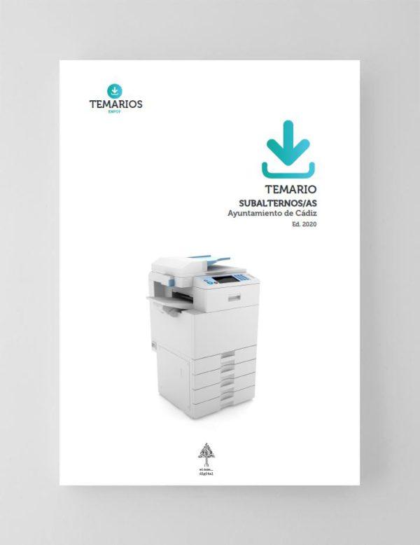 Temario PDF Subalternos/as Ayuntamiento de Cádiz 2020