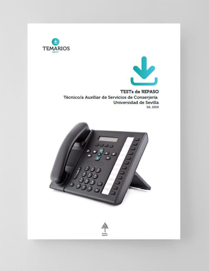 Test Repaso Técnicos Auxiliar Servicio Conserjería Universidad de Sevilla - Temarios PDF