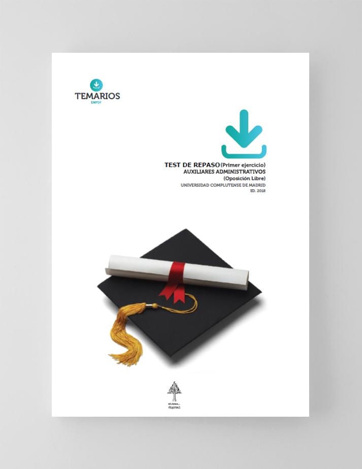 Test Repaso Auxiliares Administrativos - Complutense Madrid - Temarios PDF