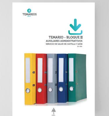 Temario Auxiliares Administrativos Servicios Salud Castilla y León - Bloque 2 - Temarios PDF
