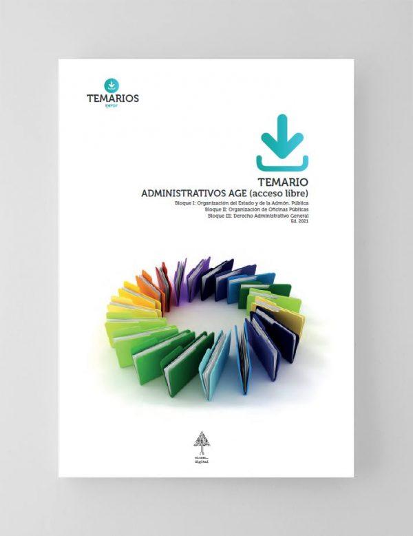 Temario Administrativos AGE Acceso Libre - Bloque 1, 2 y 3 - 2021