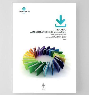 Temario Administrativos AGE Acceso Libre - Bloque 4, 5 y 6