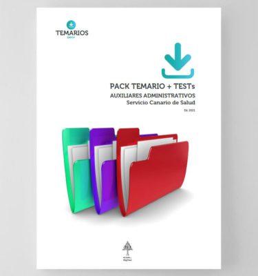 Pack Temarios y Tests Auxiliares Administrativos Servicio Canario de Salud 2021