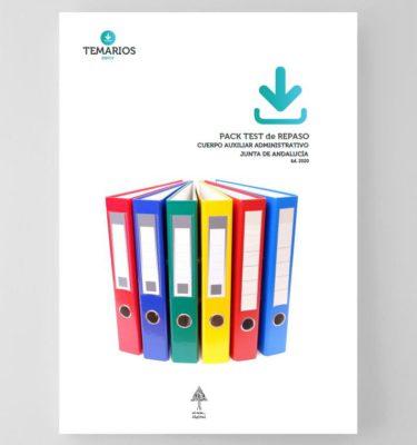 Pack Test de Repaso Auxiliar Administrativo Junta Andalucía 2020
