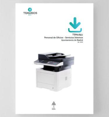 Temario - Personal oficios - Servicios internos - Ayuntamiento Madrid 2020