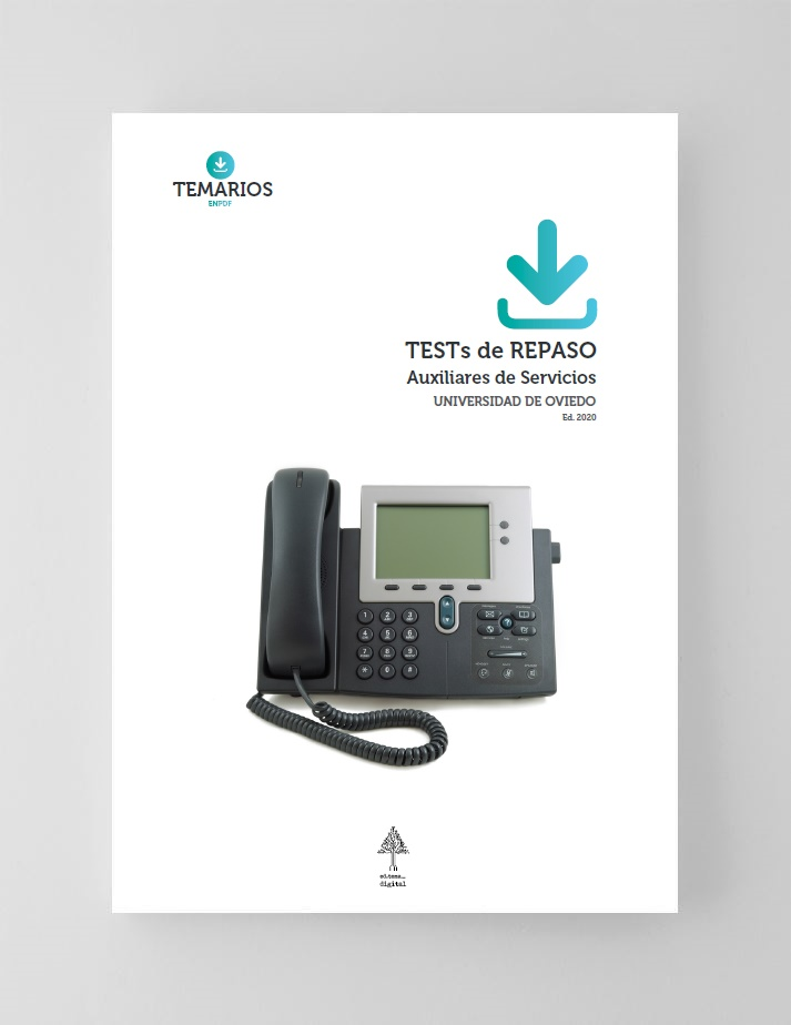 Test De Auxiliares De Servicios Universidad De Oviedo 2020
