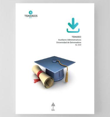 Temario Auxiliares Administrativos Universidad Extremadura 2019