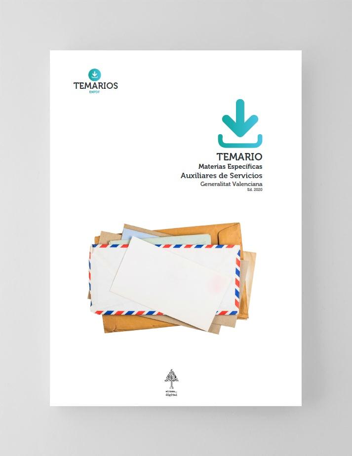 Temario Materias Específicos Auxiliares Servicios Generalitat Valenciana 2020