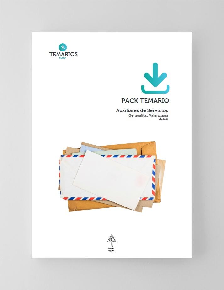 Pack Temario Auxilares de Servicios Generalitat Valenciana 2020
