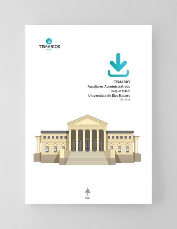 Temario Auxiliar Administrativo Universidad Baleares - Temarios PDF