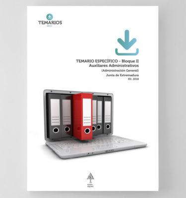 Temario Específico Auxiliares Administrativos Junta de Extremadura - Bloque 2 - Temarios PDF