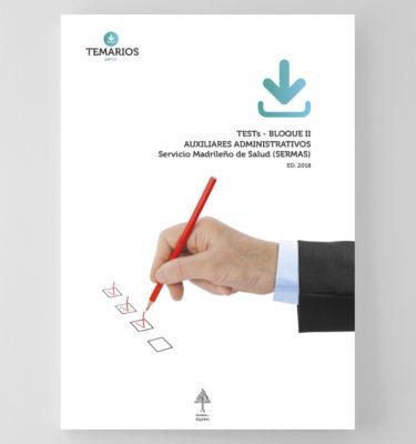 Test Auxiliares Administrativos SERMAS - Bloque 2 - Temarios PDF