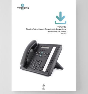 Test Técnico Auxiliar Servicios Conserjería Universidad Sevilla - Temarios PDF