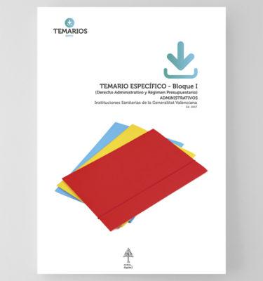 Temario Específico - Administrativos Generalitat Valenciana - Bloque 1 - Temarios PDF