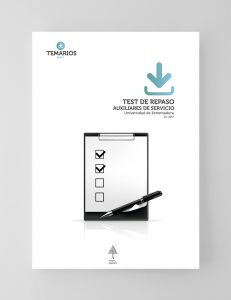 Test Repaso Auxiliares Servicio - Universidad Extremadura - Temarios PDF