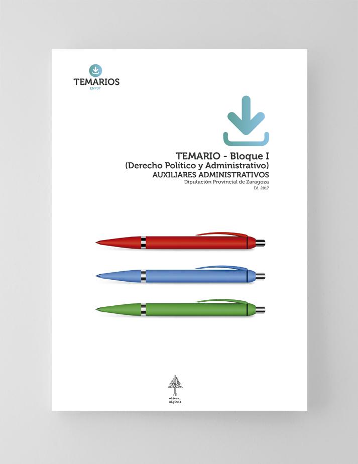 Temario Auxiliares Administrativos - Diputación Provincial Zaragoza - Bloque 1 - Temarios PDF